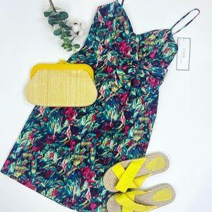 100% silk nwt j.crew silk floral bow dress